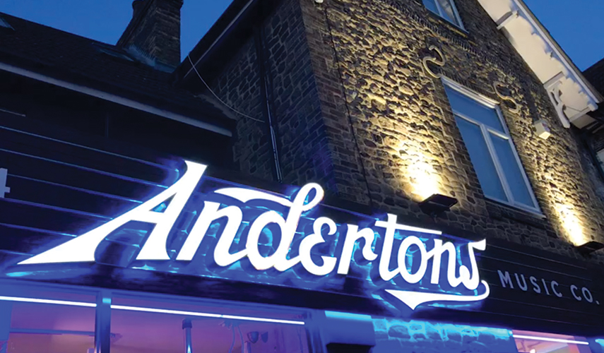 Andertons - New Store Front