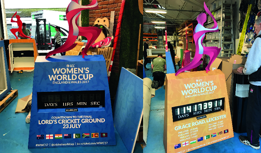 Women's Cricket World Cup Countdown Clocks